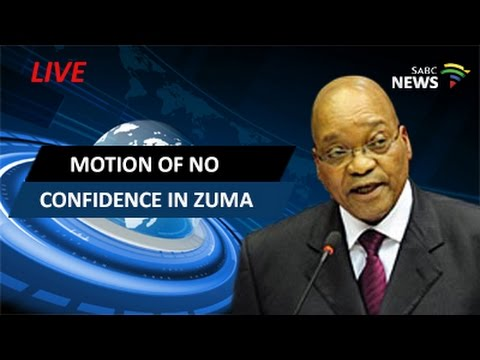 Parliament votes for motion of no confidence in Zuma - YouTube