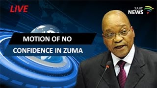Parliament votes for motion of no confidence in Zuma