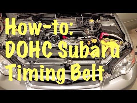 How To Change A Subaru Timing Belt Youtube