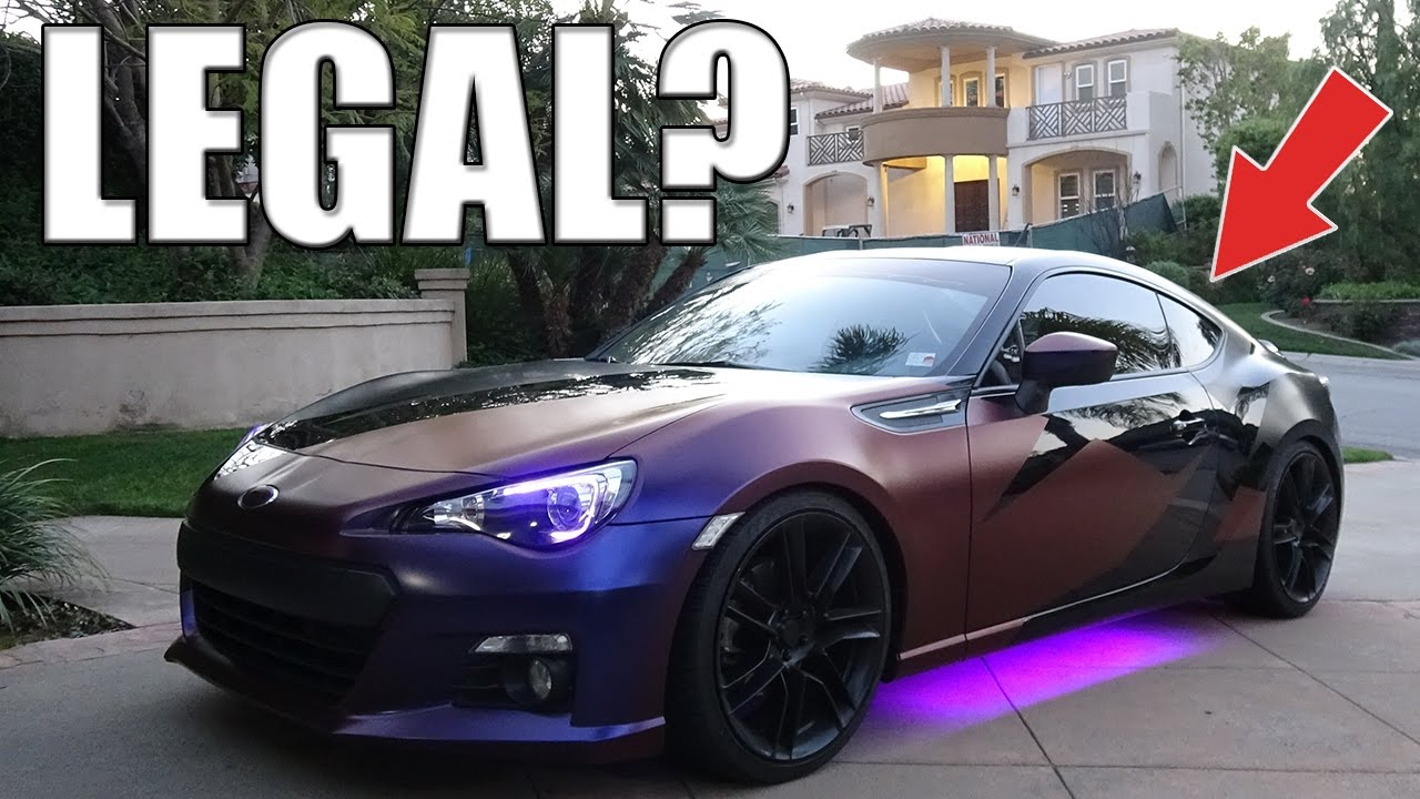how to add underglow led at car