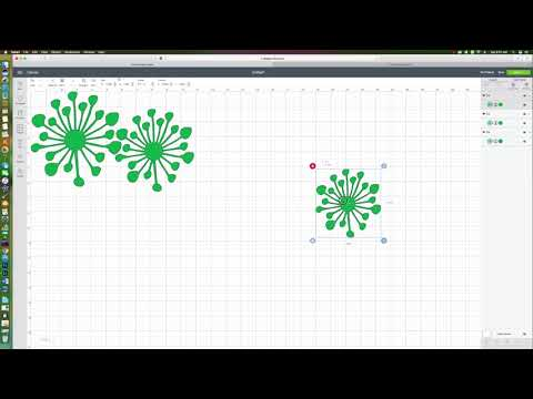 How to size the Flat Center SVG into your design space For your Giant Paper Flowers