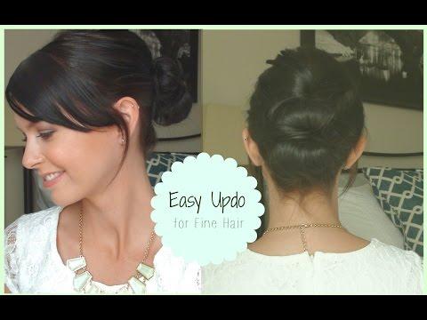 Easy Up do for fine hair