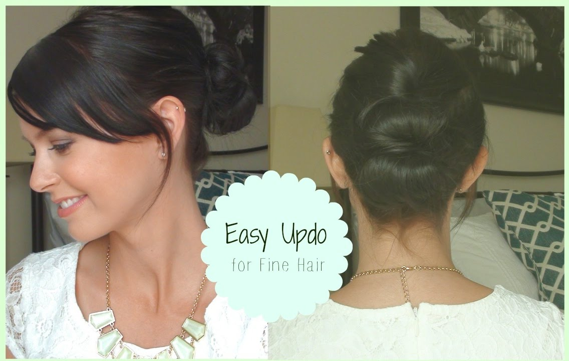 easy styles for fine hair easy updo for hair 5002 | maxresdefault