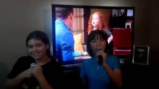 Karina & Miyoko singing Last Christmas Karaoke