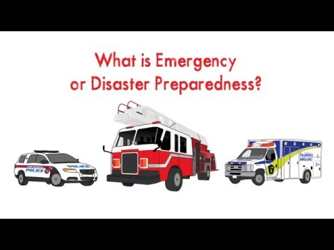 What is emergency or disaster preparedness?