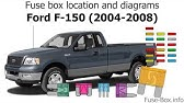 Ford F150 2004 2008 Fuse Box Diagrams Youtube