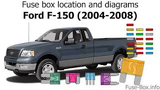 Fuse Box Location And Diagrams Ford F 150 2004 2008 Youtube
