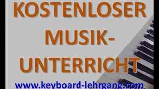 DJ Ötzi - DU BIST ES - Keyboard, E-Piano, Klavier spielen lernen!