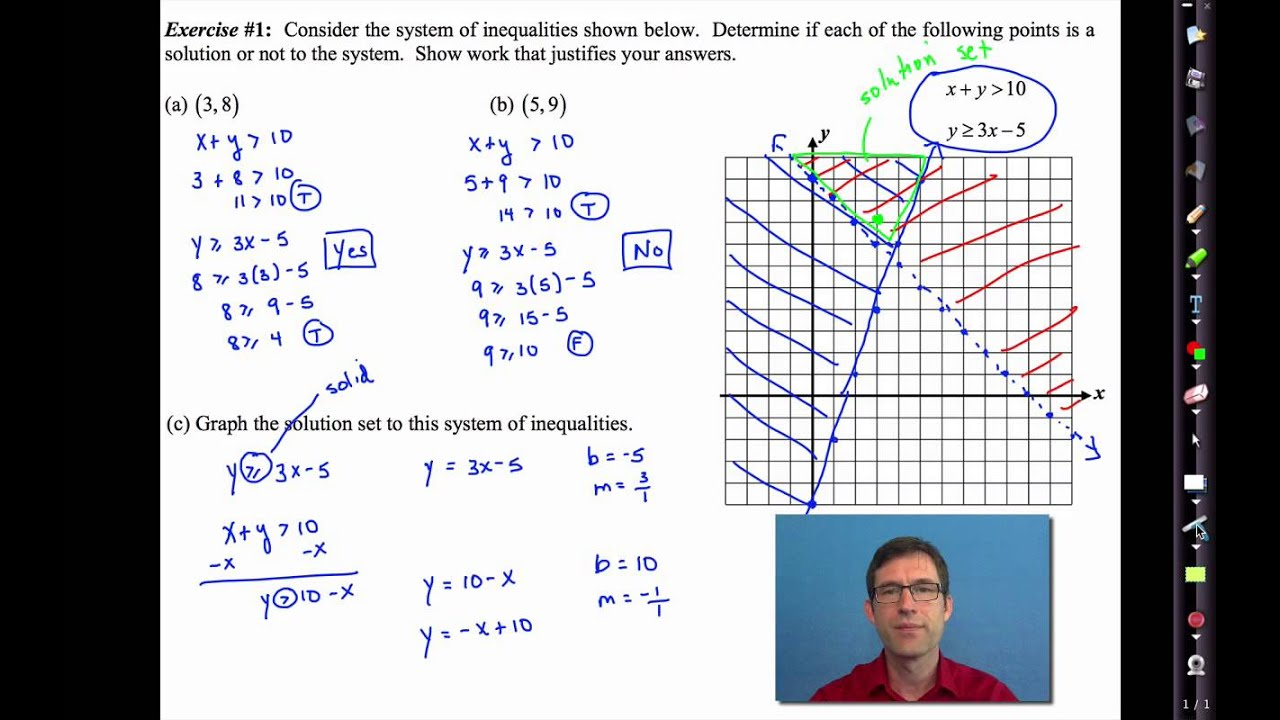 Common Core Algebra I Unit #5 Lesson #7 Solving Systems of Inequalities