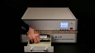 How to wipe a hard drive with Anseno degaussing tool SE-1.2T
