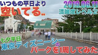【ガラガラすぎ】七夕平日の東京ディズニーシーのパークを1周してみた。