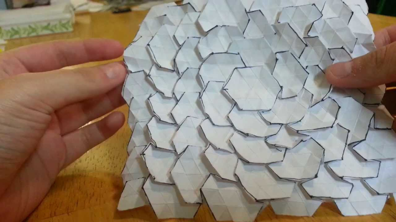 Origami Spread Hex Tessellation Designed By Eric Gjerde