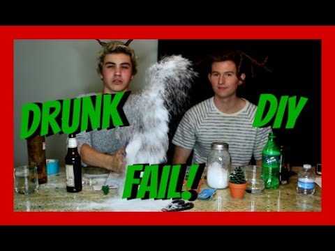 DRUNK PINTEREST DIY CHRISTMAS FAIL | RICKY DILLON