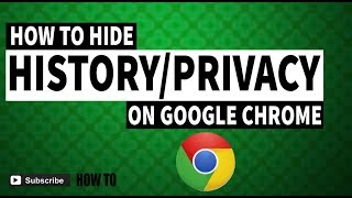 How to hide history on google chrome