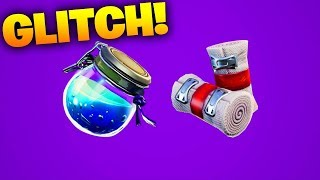 FORTNITE POTION/BANDAGE GLITCH - Fortnite: Battle Royale GLITCH