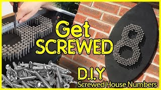 How to Industrial contemporary D.I.Y Screwed House number weekend project under £5