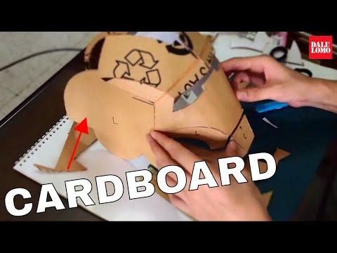 #11: Iron Man Mark 4 Helmet Part 1 - Cardboard, Cut & Glue (Template) | How To | Dali DIY