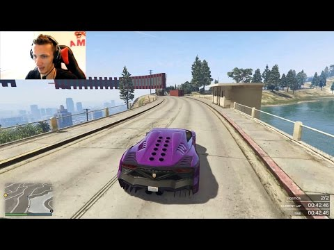 Grand Theft Auto V Online Trke - Edo na wallride-u  w/ NekiJutuber