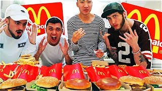 ENTIRE AMERICAN MCDONALD'S MENU IN 10 MINUTES CHALLENGE!