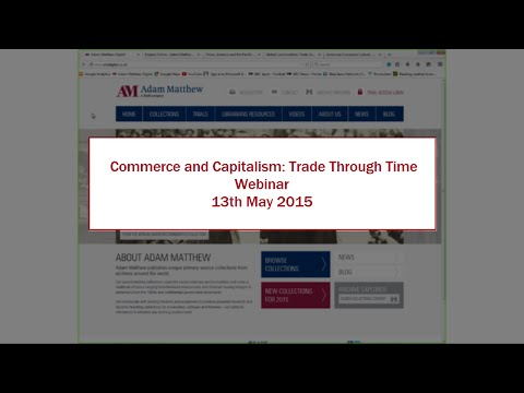Commerce and Capitalism: Trade Through Time Webinar