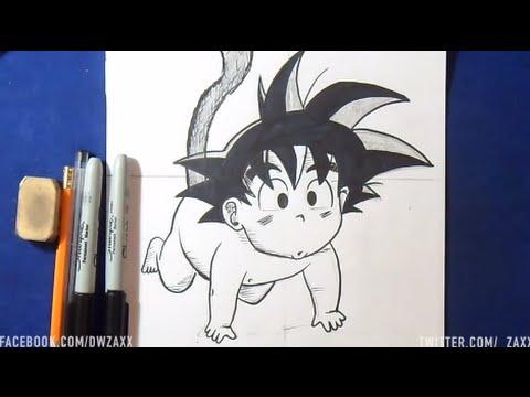 Hervorragend Comment dessiner Sangoku bébé (Dragon Ball) - YouTube YH78