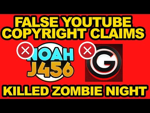 FALSE Copyright CLAIMS STRIKES TAKES DOWN STREAMS KILLS ZOMBIE RELEASE | NoahJ456 & Many Others