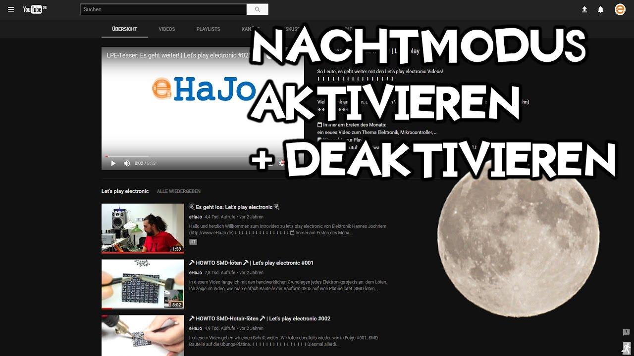 Youtube Dunkel Machen