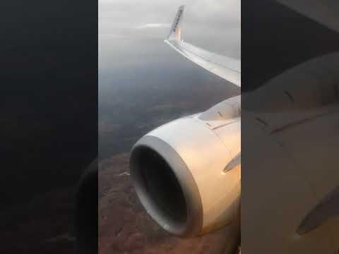 Ryanair Landing At MADRID Airport From PISA Galileo Galilei 21.10.2018