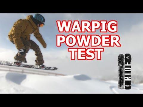 Snowboard Powder Test - The Ride Warpig