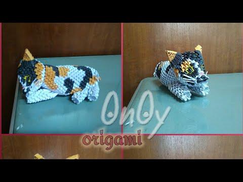 3d origami cat tutorial part 3