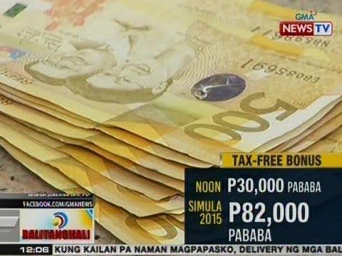 BT: Kabuuang bonus na hindi hihigit sa P90k, magiging tax-free kapag naipasa ang 'Train' Bill