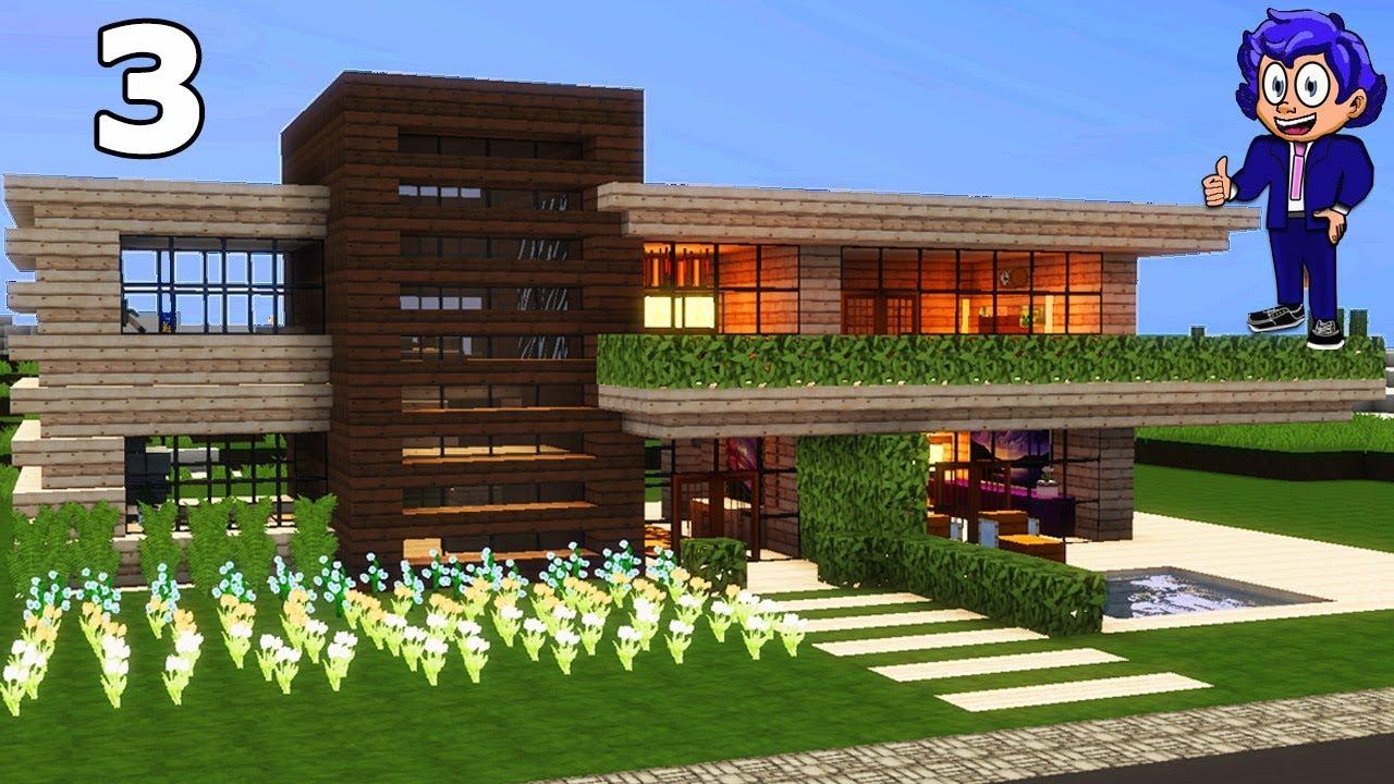 Casa de madera 2 en minecraft p3 c mo hacer y decorar for Casa moderna y automatica en minecraft