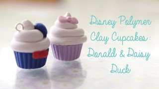 Disney Polymer Clay Cupcakes: Donald And Daisy Duck!