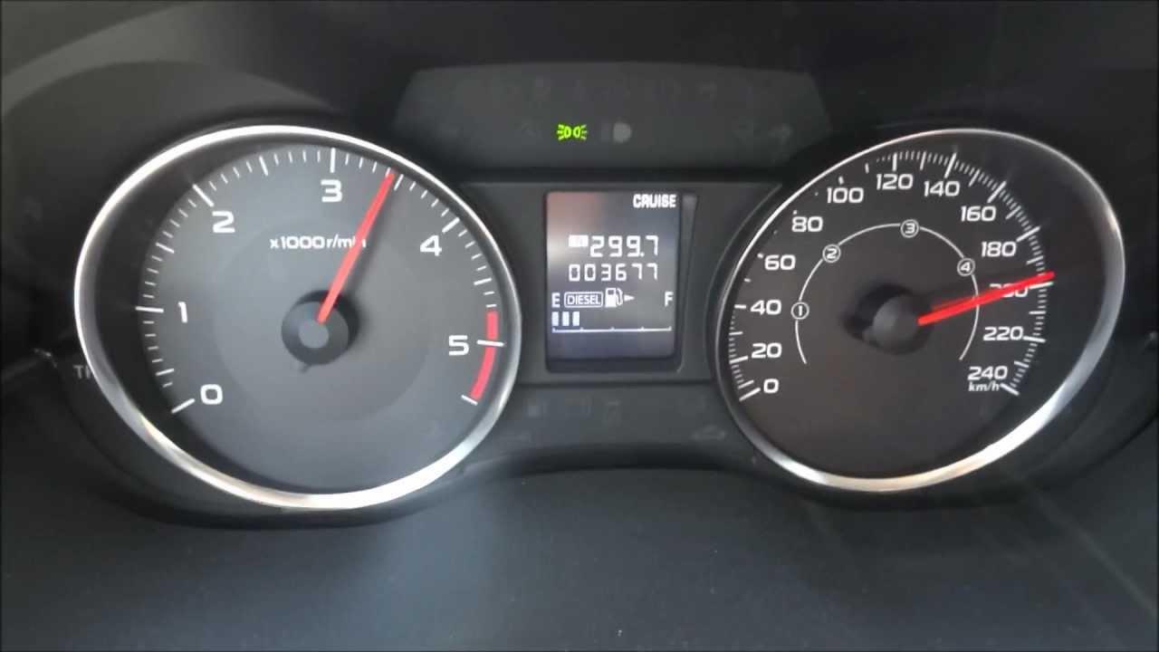 Subaru XV top Speed test [FULL HD]  YouTube