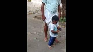 Child dancing for danga maari