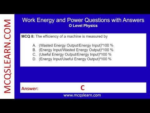Work Energy and Power Questions with Answers - MCQsLearn Free Videos