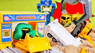 はたらくくるま おもちゃ アニメ 工事現場でじこはっせい!? パトカーしゅつどう!!