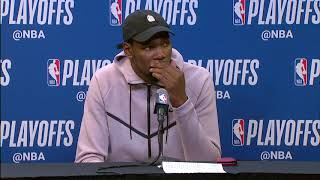 Kevin Durant Postgame Press Conference | Spurs vs Warriors - Game 3 | 2018 NBA Playoffs