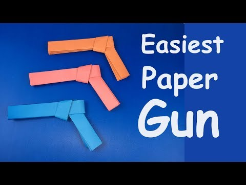 How To Make  Easiest Paper Gun Origami Tutorial