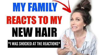 MY FAMILIES *SHOCKING* REACTION TO MY NEW HAIR