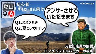 【登山初級者さん向け】Q&A『スズメバチ』『真夏のアウトドア』【元店員解説】