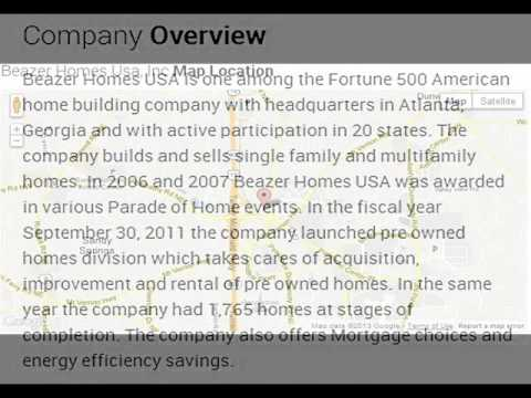 Beazer Homes Usa, Inc Corporate Office Contact Information