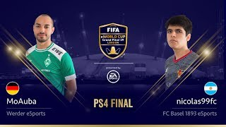Nicolas99FC vs MoAuba - PS4 Final - FIFA eWorld Cup 2019