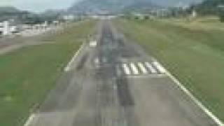 Cockpit view of a jet landing into Tegucigalpa Honduras TGU