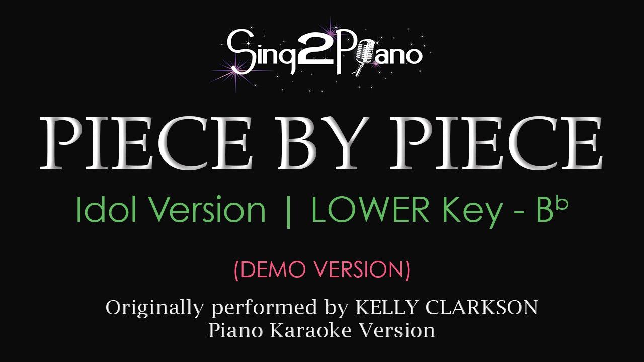 Lower key karaoke piano for kids