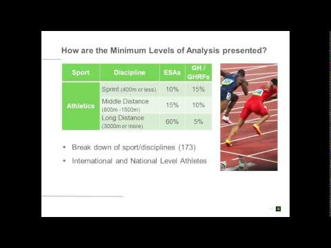 WADA Webinar - Technical Document for Sport Specific Analysis (TDSSA) for IFs and MEOs
