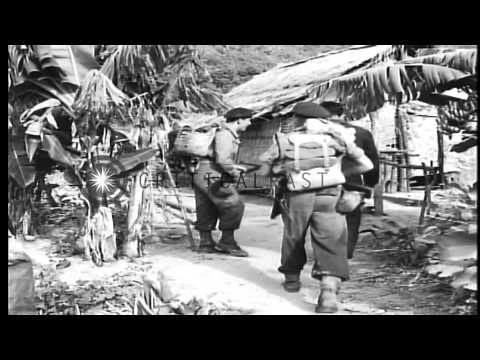 French military operations along rivers during war in Indochina. HD Stock Footage