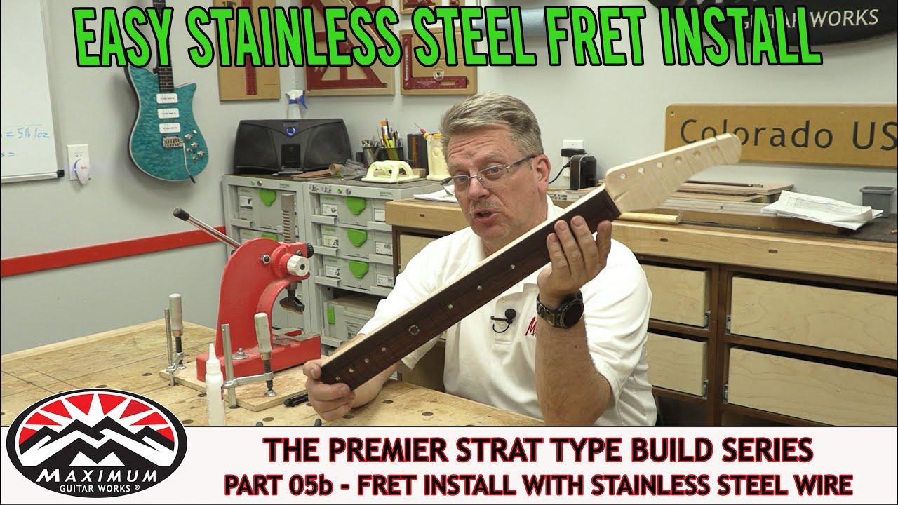 Premiere Strat Build 2021 - Part 05b - Easy Stainless Steel Fret Install