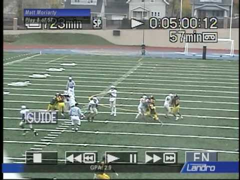 Matt Moriarty Harper college football highlights 2009