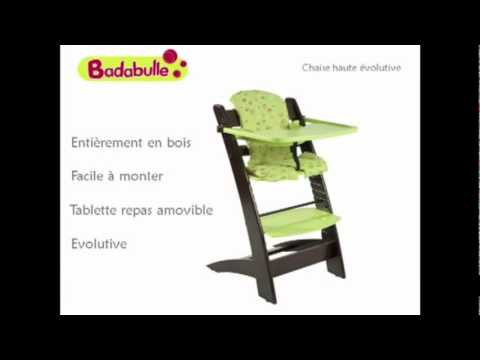 vid o ukeez tv chaise haute volutive badabulle youtube. Black Bedroom Furniture Sets. Home Design Ideas